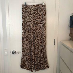 "ZARA Leopard ""Pajama"" Trouser Size Medium"